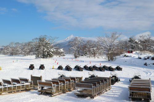 大沼国定公園(冬季)氷上スノーモービル・そり