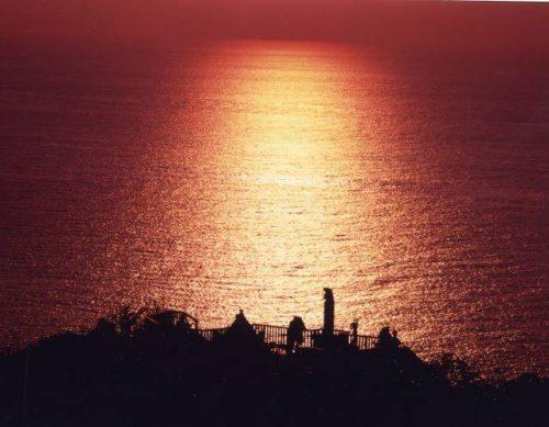 伊豆 恋人岬の夕景